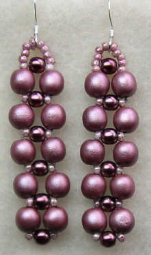 Image detail for -Evening in Mauve – Right Angle Weave Earrings