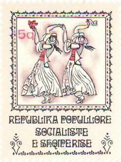 Albania - Two girls with handkerchiefs