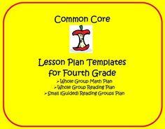 Common Core 4th Grade Lesson Planning Templates