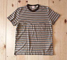 Levi's Vintage Clothing 1960's Casuals Stripe Tee in Taos Blue