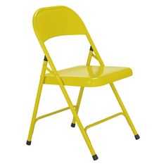 MACADAM Saffron yellow metal folding chair - cheap occasional guest chairs
