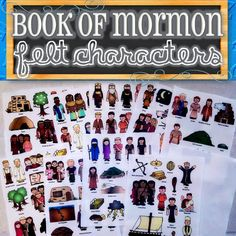 Felt, Magnetic, Stickers or Laminated Characters for Entire Book of Mormon Stories