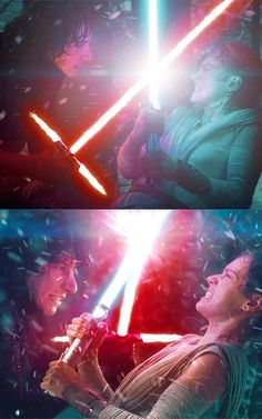 """""""You need a teacher. I can show you the ways of the Force.""""  Star Wars: Episode VII - The Force Awakens (2015). Fan art"""