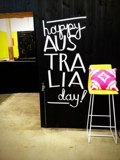 Happy Australia Day from Koskela Happy Australia Day, Anzac Day, Bbq Ideas, Day Work, Shop Ideas, Fonts, Typography, Woodworking, Neon Signs