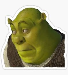 Shrek stickers featuring millions of original designs created by independent artists. Snapchat Stickers, Meme Stickers, Tumblr Stickers, Phone Stickers, Cool Stickers, Printable Stickers, Shrek, Red Bubble Stickers, Aesthetic Stickers