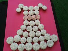 pastel de vestido cup cakes! delicioso y hermoso! 1° comunión Xime♡