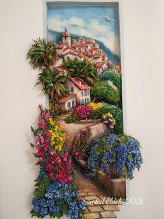 Zeyneps Papertole # Papier # Relief # Sümbül Eldek A new simple physique relaxing their 3d Art Painting, Mural Art, Wall Art, Dolls House Shop, Doll Houses, Large Scale Art, Paper Mache Sculpture, Clay Design, Polymer Clay Art