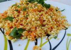 Paraíso Vegetal: Cous cous crudivegano de coliflor y zanahoria