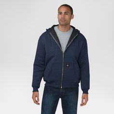 Dickies Men's Heavyweight Quilted Fleece Hoodie Big & Tall Navy (Blue) Xxxl Tall, Size: 3XL Tall