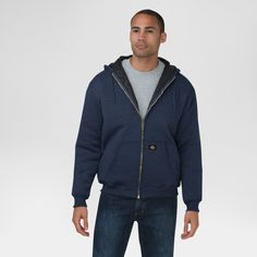 Dickies Men's Heavyweight Quilted Fleece Hoodie Big & Tall Navy (Blue) Xxxl Tall, Size: 3XL Tall