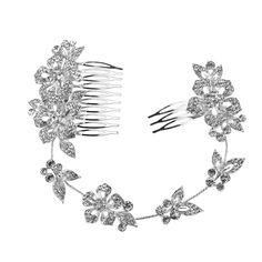 Tinksky Wedding Bridal Hair Comb Crystal Flower Design Hair Clip Side Comb Pin Headpiece * You can find out more details at the link of the image.