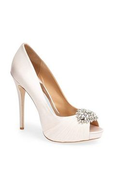 @Kara Creamer These shoes make me believe in love at first sight... If I ever take that long walk down the aisle I want to do it in these bad boys!!!  Badgley Mischka 'Petal' Pump available at #Nordstrom