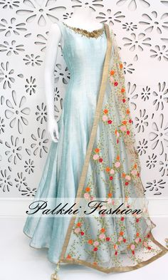 PalkhiFashion Exclusive Full Flair pink Silk Outfit with Elegant Handwork on Neck and Sleeve. This amazing Outfit Comes with Embroidered Duppata. Dress Indian Style, Indian Dresses, Indian Wear, Indian Outfits, India Fashion, Ethnic Fashion, Women's Fashion, Indian Designer Outfits, Designer Dresses