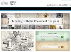 Special DocsTeach.org page from the Center for Legislative Archives at the National Archives: Find records of the U.S. House of Representatives and the U.S. Senate and teach about representative democracy, how Congress works, and the important role that Congress has played throughout American history. Find more resources and lesson plans from the Center for Legislative Archives at http://www.archives.gov/legislative/resources/education