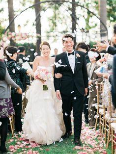 Romantic Pink-on-Pink California Wedding - Style Me Pretty