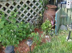 Repurposed Garden Decor