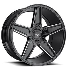 New-4 20 Staggered Niche Wheels M180 Cannes Gloss Black Milled Rims