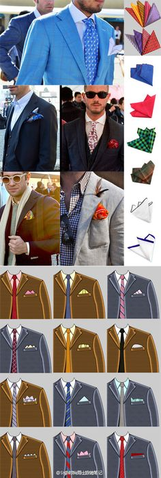 POCKET SQUARES #infographic #mensfashion
