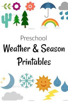 Free Weather and Seasons Preschool Printable | Making Life Blissful