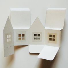 paper projects STAY HOME SALE! Paper House Luminaries Printable Template, Graphics, and Instructions Vintage Ephemera, Vintage Paper, Vintage Wedding Favors, Battery Operated Tea Lights, House Template, Paper Crafts, Diy Crafts, Foam Crafts, Paper Toys