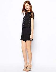 Warehouse Spot Top Playsuit $104