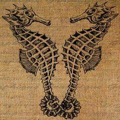 Digital Image Download Collage Sheet Burlap Sea by Graphique, $1.00