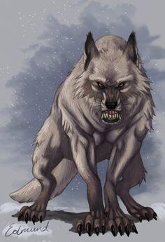 SciFi and Fantasy Art White werewolf by Emese Fisi Szigetvári