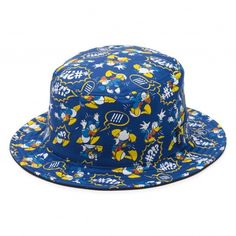 Disney Donald Duck Bucket Hat ($54) ❤ liked on Polyvore featuring accessories, hats, disney hats, fishing hats, fisherman hat, bucket hats and disney