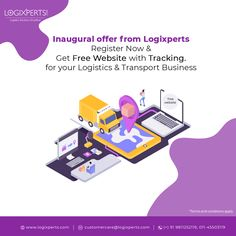 Register with us & get a high class website for your business with LogiXperts. For more details contact us at @ - Analytics Dashboard, Cloud Based, High Class, Free Website, Transportation, Software, Management, How To Apply, Clouds