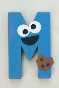 Cookie Monster fiesta decoración carta de por LittleABCDesigns