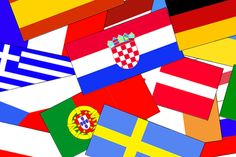 FOOTBALL! Flag colouring-in templates for all 16 countries in Euro 2012 - fun activity for kids.