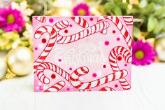 Spellbinders Zenspired Holidays Collection by Joanne Fink - Inspiration Christmas Sentiments, Merry Christmas Card, Christmas Candy, Candy Images, Paint Stripes, My Stamp, Hello Everyone, I Card, Stencils