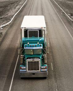 Trucks doing what trucks do!