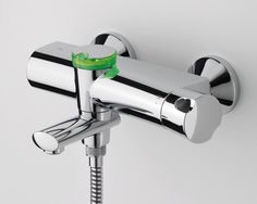 Oras Eterna bath and shower faucet for the bathroom. EcoLed function saves money and water: it starts blinking if you spend too long time in shower...Ecological and safe design.