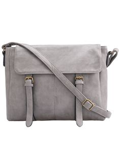 Shop Grey Buckle PU Shoulder Bag online. SheIn offers Grey Buckle PU Shoulder Bag & more to fit your fashionable needs.