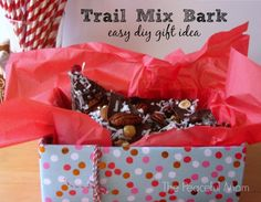 Gift Idea: Trail Mix Bark Recipe -DIY Gift Idea: Trail Mix Bark Recipe - Teacher bus driver coach end of year gift appreciation Christmas Food Gifts, Homemade Christmas Gifts, Christmas Baking, Homemade Gifts, Christmas Fun, Diy Gifts On A Budget, Easy Diy Gifts, Paper Plate Crafts For Kids, Bark Recipe