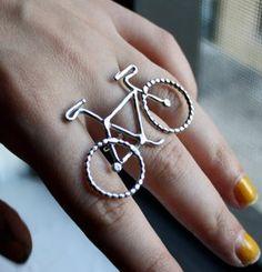 Le Petit Bike Ring ~Rachel Pfeffer $82  http://rachelpfeffer.bigcartel.com/product/le-petit-bike-ring