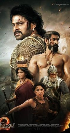 Directed by S.S. Rajamouli.  With Prabhas, Rana Daggubati, Anushka Shetty, Tamannaah Bhatia. When Shiva, the son of Bahubali, learns about his heritage, he begins to look for answers. His story is juxtaposed with past events that unfolded in the Mahishmati Kingdom.