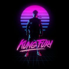 Kung Fury screenshot (this film is apparently extremely retro-futurism/video-game themed and is also free, should watch at some point) Kung Fury, Vaporwave, Cyberpunk, 80s Design, Graphic Design, Graphic Art, Logo Design, 80s Posters, 80s Neon