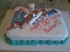 """""""over the hill"""" birthday cake"""