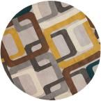 Michael Teal Blue 8 ft. x 8 ft. Round Area Rug