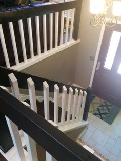 Our 80s Banister And Entryway For Home Banisters