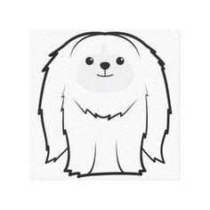 Pekingese Dog Cartoon Canvas Prints