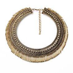 Cleo Patricia Gold Tassle Fringe Necklace