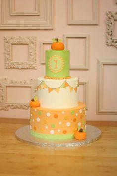 Colorful Orange & Green Pumpkin Cake