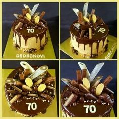 Čokoládové Birthday Cake, Food, Birthday Cakes, Essen, Meals, Yemek, Cake Birthday, Eten