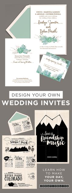 More of a DIY bride? Yeah, we got you covered. Make your own wedding invitations, thank you cards and everything else most invitation sites charge major $$$ for.   You know what you want, now learn how to make them yourself with Khara Plicanic's easy class that's free to watch on Creativelive while it's streaming.   Want more? Get a free creative education with 24/7 access to our two live stream channels OR search our catalog of classes purchase, download & watch on your own schedule.