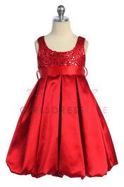Flower Girl Dress...I love this gorgeous little red dress and wouldn't it be awesome for a Christmas-y wedding? w.