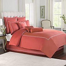 #coral #orange bedding,  Wamsutta® Baratta Stitch Comforter Set