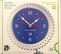 Cool clock made of bicycle parts Cool Clocks, Bicycle Parts, Wellness Center, Jackson, Recycling, Fun, Cool Watches, Upcycle, Jackson Family